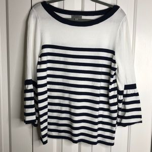 3/$15 Joseph A size S blue white striped sweater